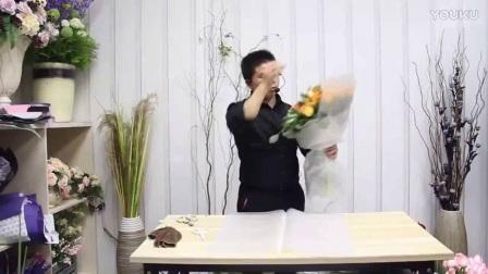 丝网花插花图片 花束包装视频 鲜花
