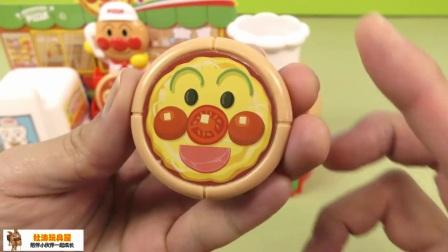 面包超人的披萨店 食玩披萨 面包超人送外卖了!