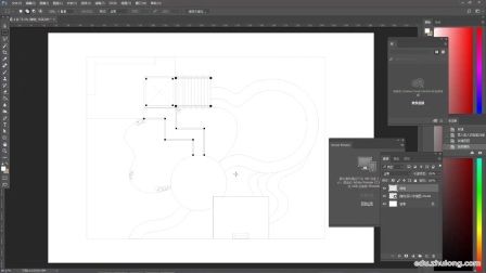 PS景观小清新平面图教程——CAD导入PS