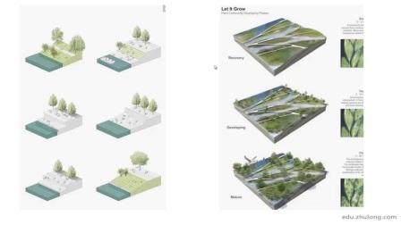 PS小清新景观分析图——模型底图导出(SU)(小场景分析)