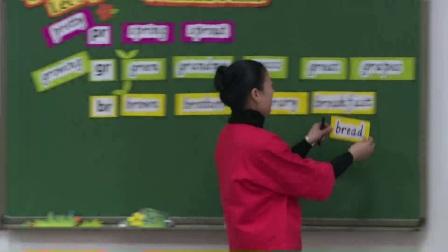 人教版英語五下第二單元《Let'sspell》課堂教學視頻實錄-周偉