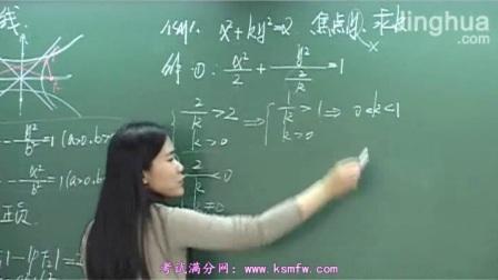 椭圆和双曲线1-1 高中数学全套课程600讲 司马红丽