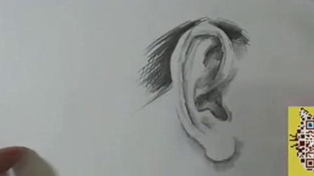 素描 头像04—耳朵的刻画