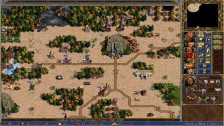 英雄无敌3新沙漠对战图测试(蓝色沼泽)