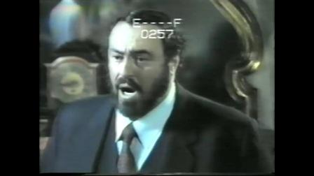 帕瓦罗蒂 (我心爱的人)演唱之前花絮《O del mio amato ben》1987年意大利摩德纳