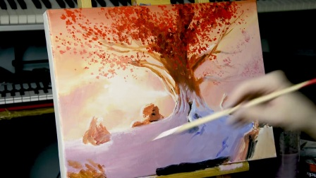 【Acrylic Painting Tutorial】Game of Thrones Tree for Beginners - YouTube