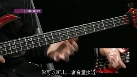 贝斯slap&pop技术4集——2.击勾弦&trill