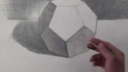 素描头像素描cut素描静物素描头像素描几何体素描苹果 素描教程素描入门 素描几何形体五角十二面体的画法4人体素描