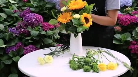 插花艺术图片 情人节鲜花图片 金莎巧克力花束