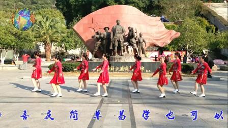 浦城燕子广场舞《新年好》原创附分解