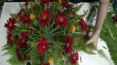 花束包装教程 教师节鲜花图片 丝网花视频