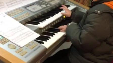 双排键电子琴演奏《真理21C》:飞飞