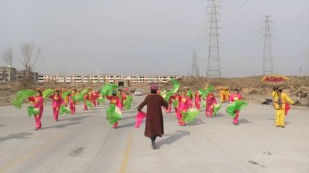 陕西省,榆林市,榆阳区,闫庄则小区大秧歌。