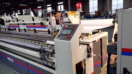 精诺3.5米卫生纸复卷机生产无芯卫生纸卷纸视频