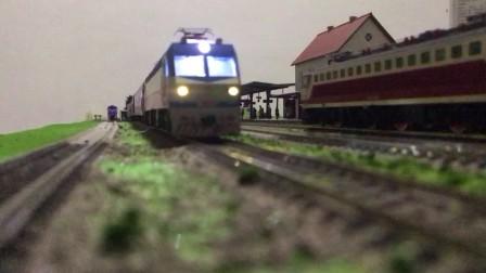 火车模型运转  模仿宝成线金刚牵引25G