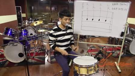 军鼓的双跳练习架子鼓教学, 爵士鼓教学鼓手老师教你学打鼓_简单学架子鼓教学
