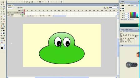 《用FLASH画一个蝗虫的头》