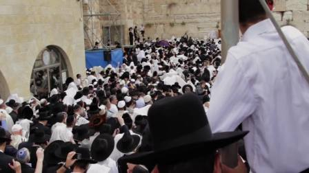Birkat Kohanim at Kotel in Jerusalem