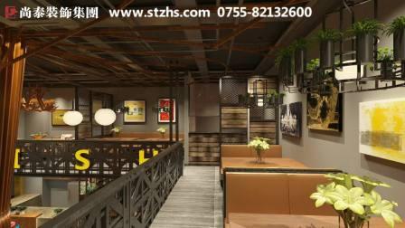 美味酸菜鱼,240平米工业风格餐饮店装修设计!