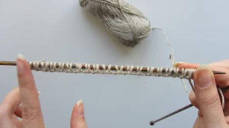 幸福群图解-欧芹-How to Knit the Alternating Cable Cast-On for 2x2 Ribbing
