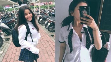 """越南女高中生晒生活照走红被赞""""零瑕疵女神"""""""