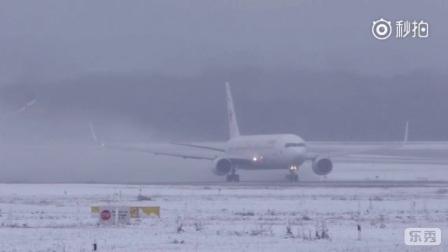 Euro Wing航空波音767起飞视频