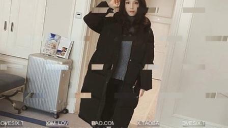 韩版羽绒棉服女冬季外套棉袄过膝韩国面包服情侣棉衣女中长款