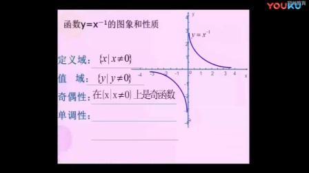 人教版数学高一《幂函数》教学视频,张怀鹏
