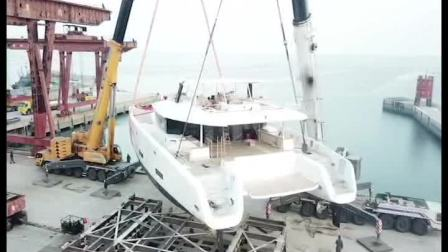亚洲最大双体帆船-锦龙超级游艇110尺双体帆船