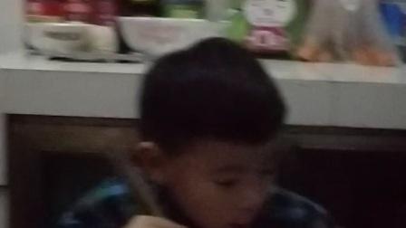 20180131和姥姥姥爷一起吃晚饭