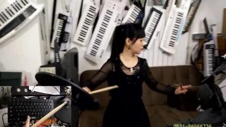 丁悦电子鼓数码鼓爵士鼓架子鼓打击板装声效盘演示相亲相爱