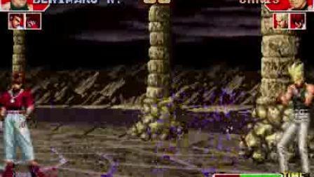 拳皇97二阶堂红丸单挑地狱乐队克里斯、夏尔米、七枷社(小boss)