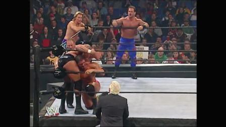 WWE强者生存2004杰瑞科&班瓦&奥尔顿vs进化军团