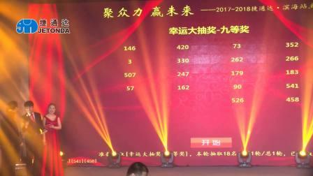 聚众力 赢未来--2017-2018捷通达滨海站主题年会(有手套舞)
