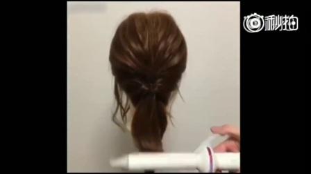超实用有能轻松学会的齐肩短发扎发造型,新娘短发造型也可以用了