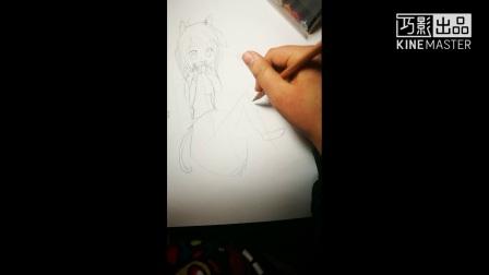 萌萌喵女郎绘画 《枫叶飘飘飞呀飞》制作 感谢《如果星星开满树》拍摄