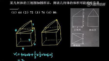 立体几何中的由三视图还原直观图问题经典题目
