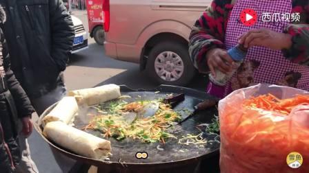 临沂特色菜煎饼, 一个锅, 一车菜, 3分钟搞定, 好吃美味中国知名