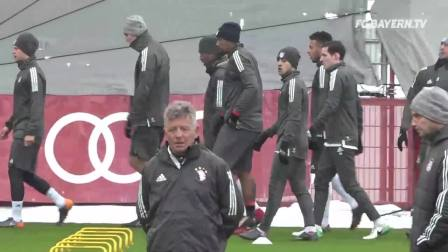 FC Bayern Training ahead of Besiktas Istanbul