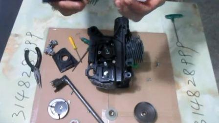 玖坚油锯维修之-----机油泵,机油管,涡轮,被动盘,离合器,链轮的更换