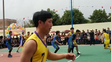 2018年上林三里镇良全春节篮球比赛二场