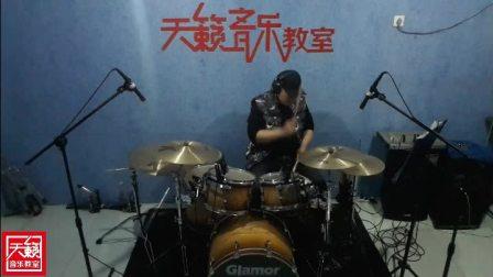 肃宁天籁音乐教室-架子鼓老师演奏《泡沫》