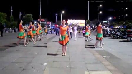温州燕子广场舞《荷东的士高》16步单跳跟双人跳 附背面教学