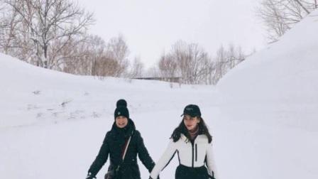 黄晓明与Baby晒与妈妈牵手照,雪景却透露彼此关系