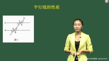 教师考试面试辅导课程初中数学面试试讲范例2-平行线的性质