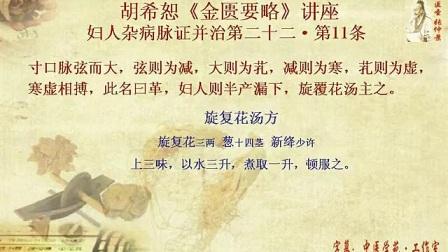 455胡希恕《金匮要略》讲座24-22-11(旋复花汤)