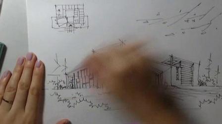 筑梦筑邦【建筑】建筑设计手绘效果图表现第一讲