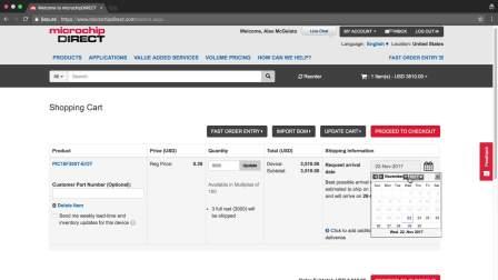 microchipDIRECT新手入门教程——如何安排订单交货日期