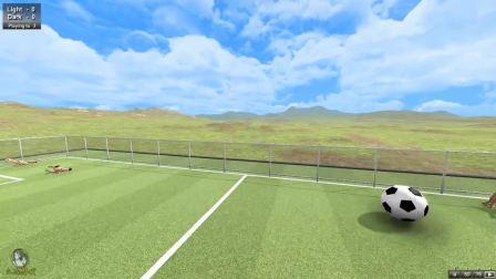 [小浩]迅猛龙北极熊踢足球比赛沙盒游戏
