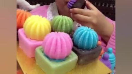 美食大姐做手工巧克力, 彩色的仙人掌, 太可爱了